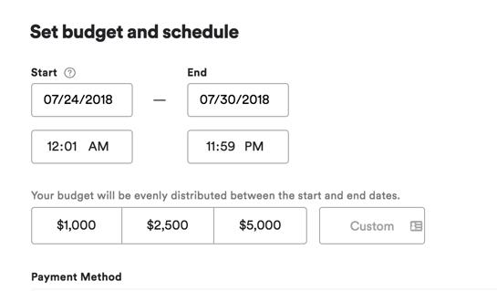 Ad Studio Budget & Schedule
