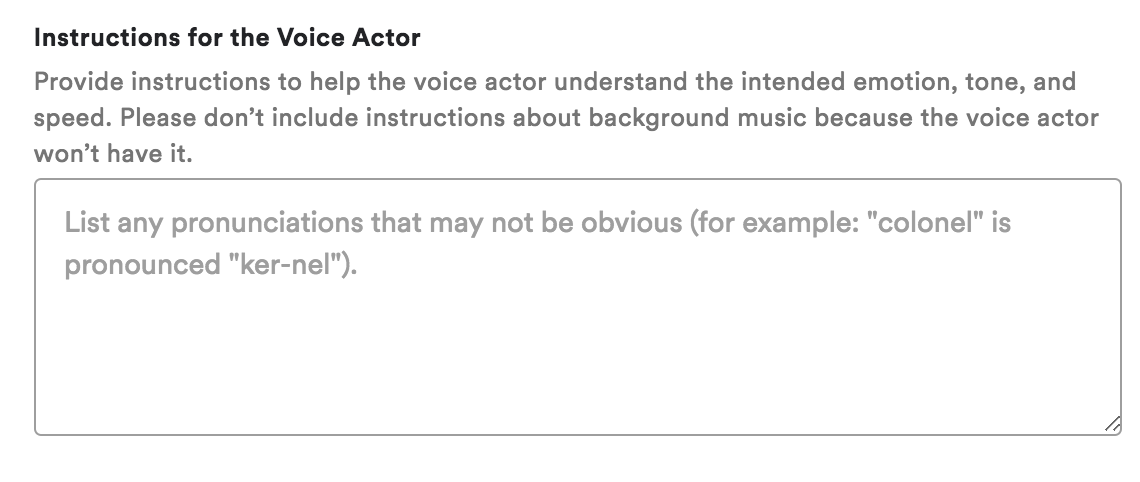 Ad Studio Instructions for Voiceover