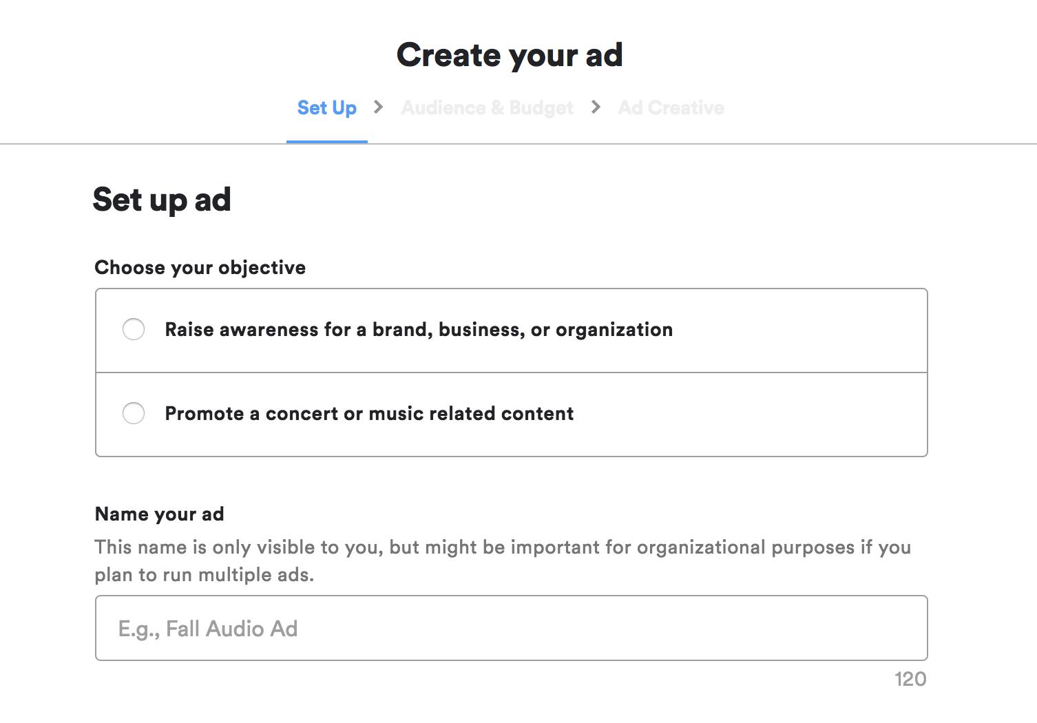 Ad Studio Create Ad