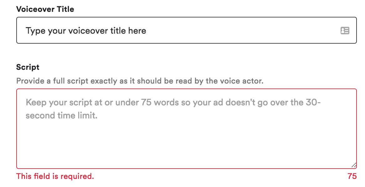 Ad Studio Voiceover