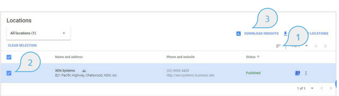 Download Google My Business Insights