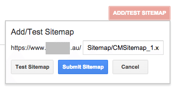 Google Webmater Tools - submit the XML Sitemap