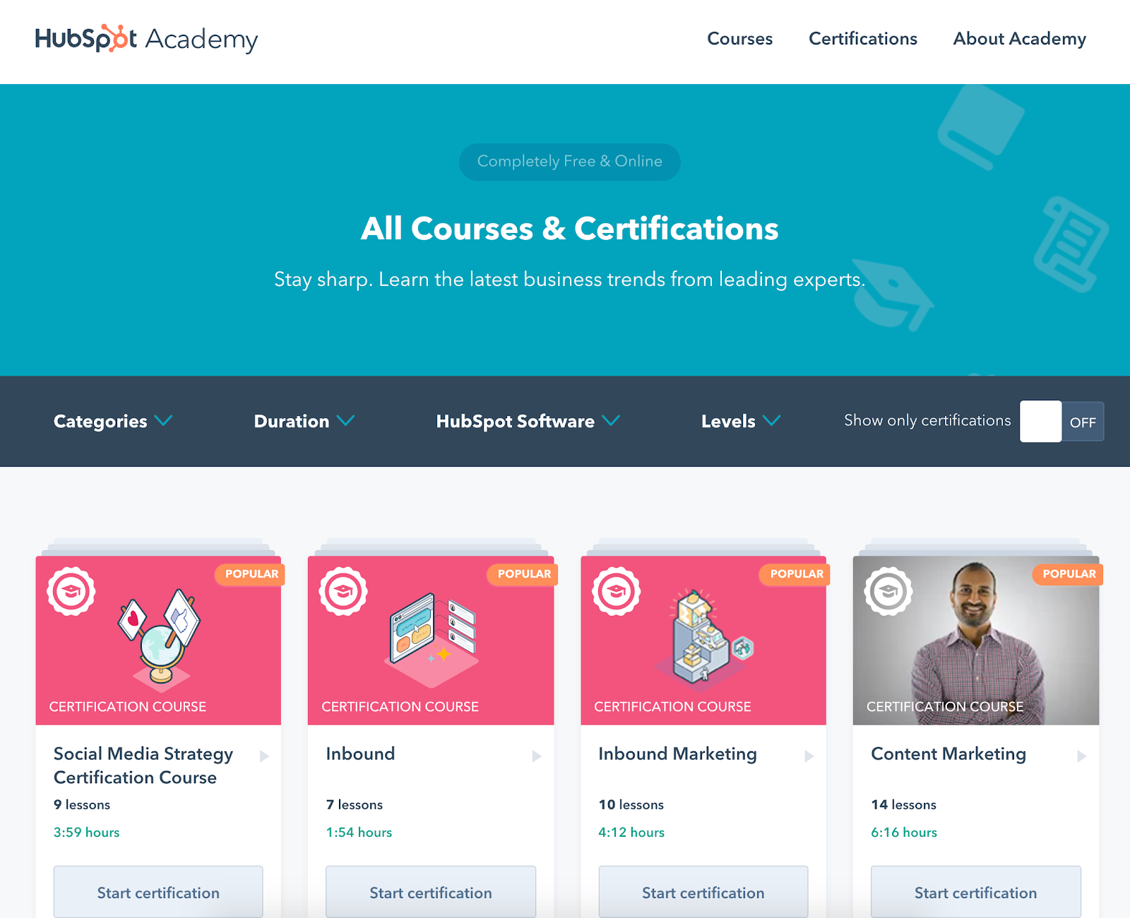 Courses   Lessons   HubSpot Academy