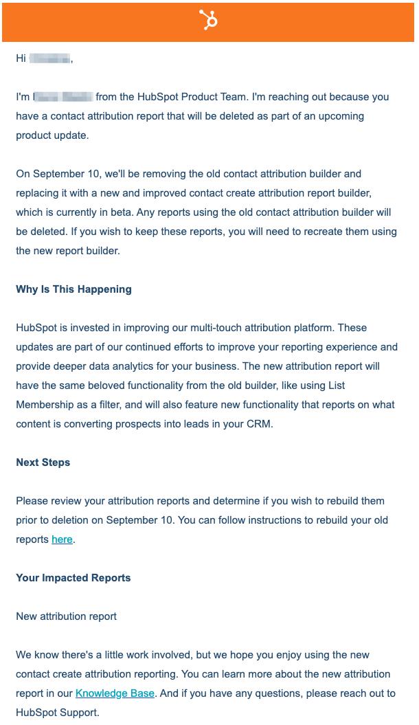 hubspot atribution reports deletion 2