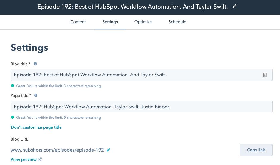 hubspot blog page titles