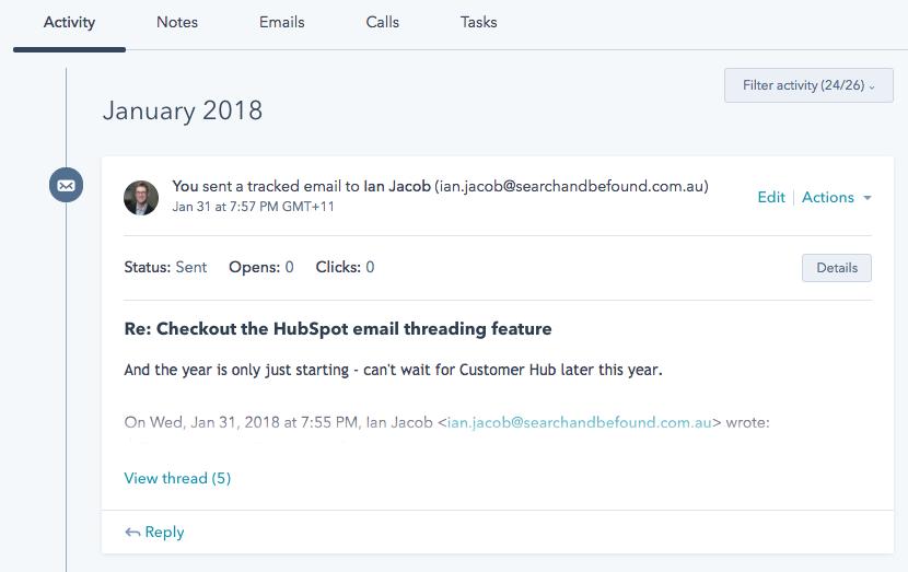 hubspot email thread 1