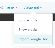 hubspot import google doc