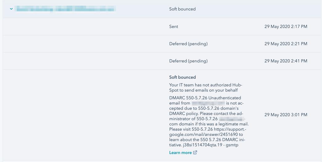 hubspot softbounce email error 1