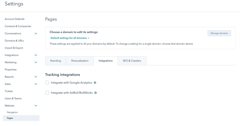 hubspot starter site integrations