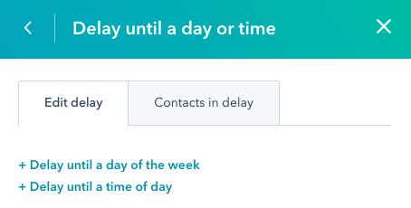 hubspot workflow action delays 2