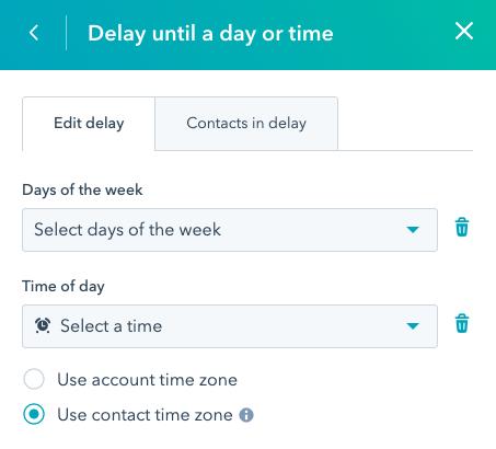 hubspot workflow action delays 3