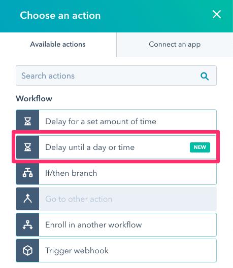hubspot workflow action delays