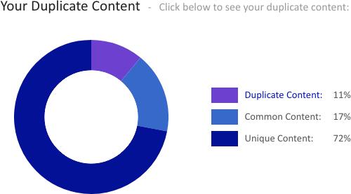 siteliner duplicate content report
