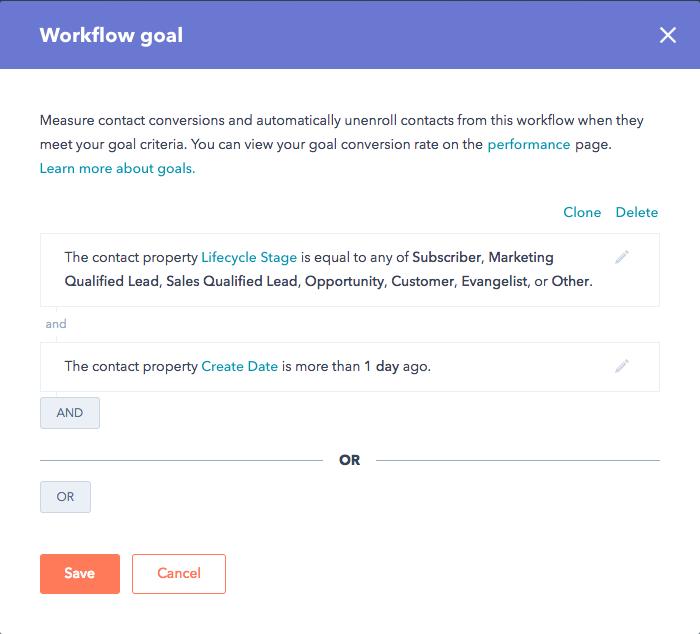 workflow goal 1