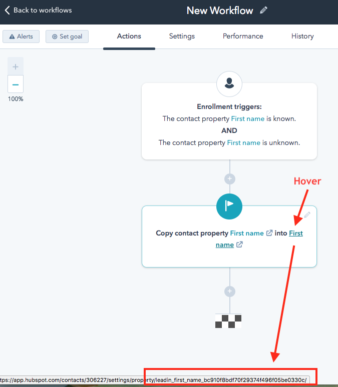 workflow hover